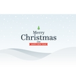 Classic Marry Christmas background with green vector image vector image