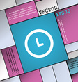 clock icon sign Modern flat style for your design vector image vector image