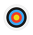 colourfull score target for shooting practice on vector image vector image
