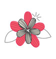 cute flower drawing decorative vector image vector image