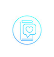 dating app love chat linear icon vector image