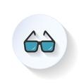 Eyeglasses flat icon vector image vector image