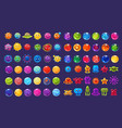 fantasy colorful icons collection for game design vector image vector image