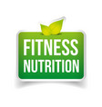 Fitness Nutrition sign vector image