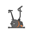 flat icon of stationary bicycle exercise vector image