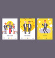 flat people businessman set posters vector image vector image