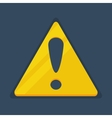 Flat Warning Sign icon vector image