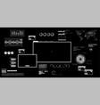 futuristic pc 80s-90s vector image vector image