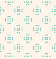 geometric ornament seamless pattern with flowers vector image vector image
