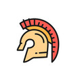gladiator warrior helmet spartan flat vector image