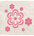 grungy floral background vector image