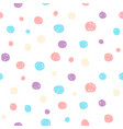 hand drawn pastel seamless pattern for kids design vector image vector image