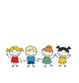 happy kids group playing and having fun vector image vector image