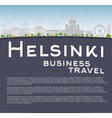 Helsinki skyline and copy space vector image vector image