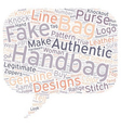 How to Tell an Authentic Handbag from a Fake text vector image vector image