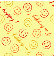 I am happy pattern vector image vector image