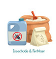 insecticide and fertilizer icon vector image