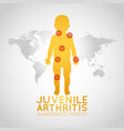 juvenile arthritis awareness month logo icon vector image vector image