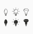 lamp icon for graphic and web design vector image