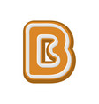 letter b gingerbread peppermint honey-cake font vector image vector image