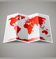 map of the world vector image vector image