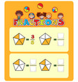mathematics matching worksheet template vector image vector image