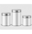 metal tin can container template packaging dry vector image vector image