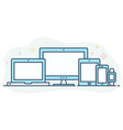 modern flat color line responsive web icons vector image vector image
