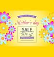 mothers day sale off discount vaucher brochure vector image vector image