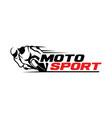 motosport logo template vector image vector image