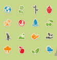 nature icon set vector image