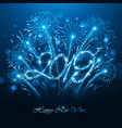 new year s fireworks 2019 with flickering lights vector image vector image