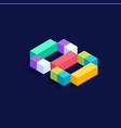 number 8 isometric colorful cubes 3d design vector image