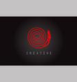 o monogram letter logo design brush paint stroke vector image vector image