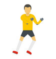 one goalkeeper icon flat style vector image vector image