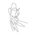 one single line drawing minimalist beauty vector image