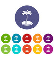 palm tree with coconuts icon simple style vector image vector image
