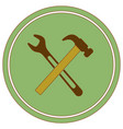 plumbing work symbol icon vector image