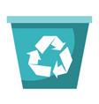 recycle bin cartoon vector image