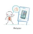 Relayter praises mobile phone vector image vector image