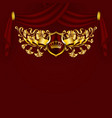 royal background with ornament shield gold crown vector image vector image