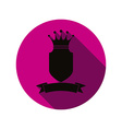 Royal insignia security shield with a king crown vector image vector image