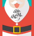 santa laughing with ho-ho-ho text vector image vector image