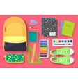 School Items set on bright background Learn and vector image