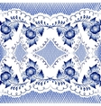 Seamless floral pattern in gzhel style vector image vector image