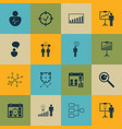 set of 16 management icons includes system vector image vector image