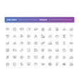 set of 60 line icons finance vector image