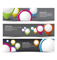 Set of map locator horizontal banners vector image vector image