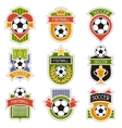 Set of sports soccer football badges vector image vector image