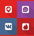 social network icon web buttons vector image vector image